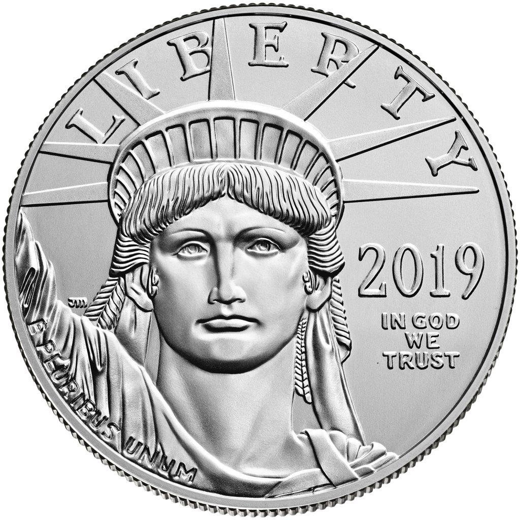 2019 Platinum American Eagle Obverse