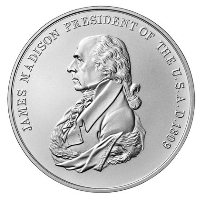 James Madison Presidential Silver Medal
